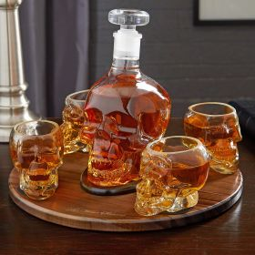 Skull Liquor Decanter Set
