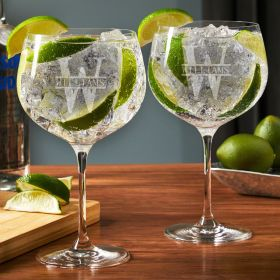 Oakmont Custom Balloon Gin and Tonic Glasses Set of 2