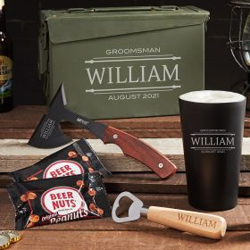 Unbreakable Custom Stanford 30 Cal Ammo Can Beer Gift Set