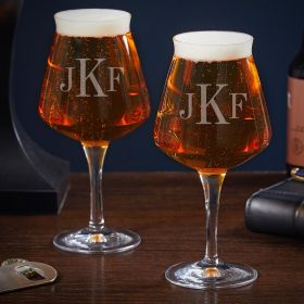 Classic Monogram Personalized Set of Two Teku Glasses