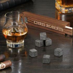 Oakmont Personalized Wescott Double Bourbon Snifter Stone Set