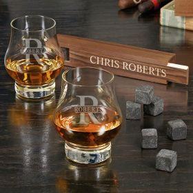 Oakmont Custom Wescott Double Snifter Bourbon Gift Set