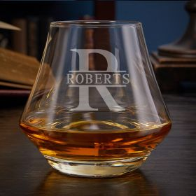 Oakmont Engraved DiMera Whiskey Glass