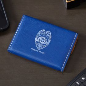 Police Badge Custom Business Card Holder Police Gift