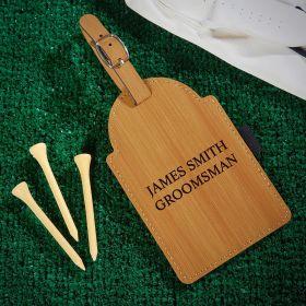 Custom Golf Bag Tag with Tee Set