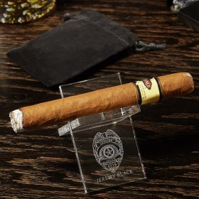 Police Badge Personalized Acrylic Cigar Stand Gift for Police Officer
