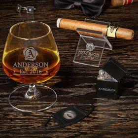Wax Seal Custom Cognac and Cigar Gift Set