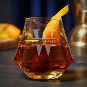 Oakmont Engraved DiMera Cocktail Glass