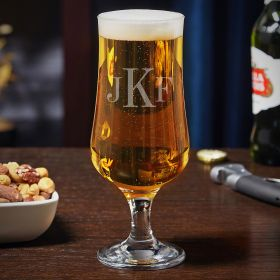 Classic Monogram Custom Tulip Beer Glass