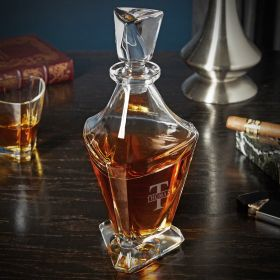 Oakmont Engraved Bishop Whiskey Decanter