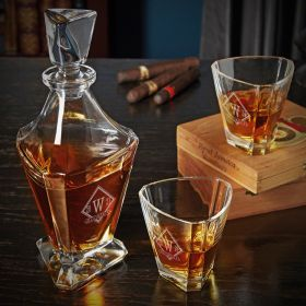 Drake Custom Euclid Bishop Whiskey Decanter Set