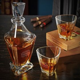 Stanford Personalized Bishop Whiskey Decanter Set