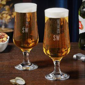 Calvin Custom Tulip Beer Glasses Set of 2