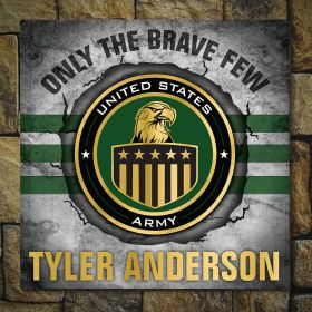 Brave and True Personalized Wooden Sign Gift for Army Soldier