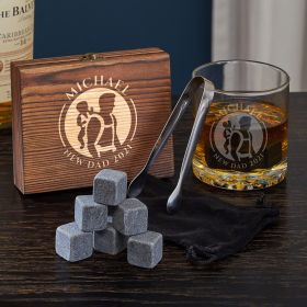 Dad Life Custom Set of Whiskey New Dad Gifts