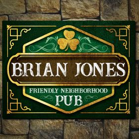 O'Malley Personalized Irish Pub Sign