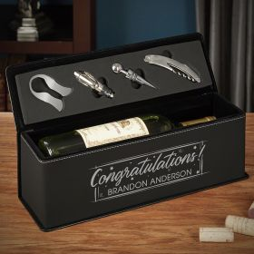 Time to Celebrate Custom Wine Gift Box Congratulations Gift