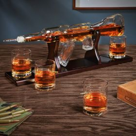 On Target Rifle Whiskey Gun Decanter Set