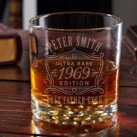 Ultra Rare Edition Engraved Buckman Whiskey Glass