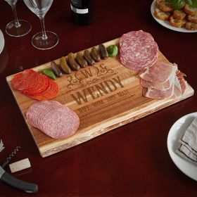 Canterbury In the Raw Personalized Charcuterie Board