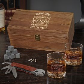 Ultra Rare Edition Multi Tool Whiskey Box Set Engraved Gift Ideas for Him