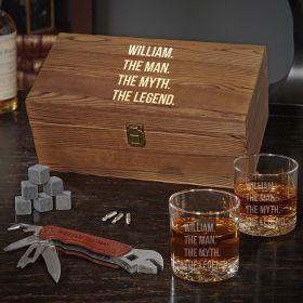 Man Myth Legend Customized Whiskey Gift Set