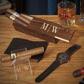 Quinton Custom Cigar and Whiskey Unique Gifts for Men