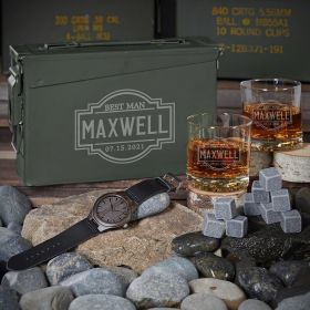 Fremont Custom 30 Cal Ammo Can Set of Badass Groomsmen Gifts