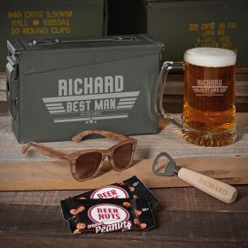 Maverick 30 Cal Beer Set Personalized Groomsmen Gifts