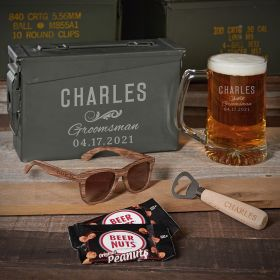 Classic Groomsman 30 Cal Custom Groomsmen Gift with Sunglasses