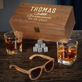 Classic Groomsman Custom Whiskey Gifts for Groomsmen
