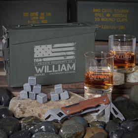 American Heroes 30 Cal Custom Whiskey Gifts for Guys
