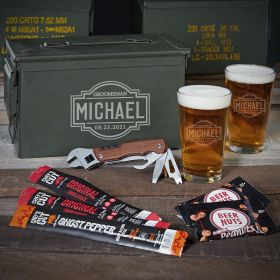 Fremont 50 Cal Ammo Can Beer Set of Personalized Gifts for Him