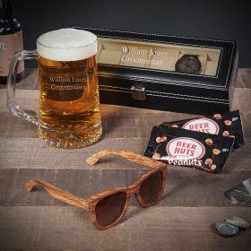 Custom Beer Groomsmen Gifts With Watch Case