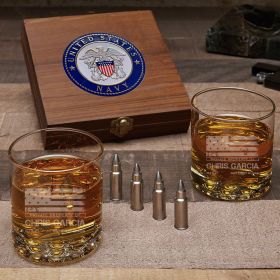 American Heroes Personalized Bullet Whiskey Stones U S Navy Gifts