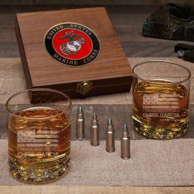 American Heroes Custom Bullet Stone Set Gifts for Marines