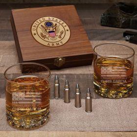 American Heroes Custom Bullet Whiskey Stone Army Gifts