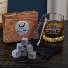 Maverick Custom Whiskey Set of Air Force Gifts