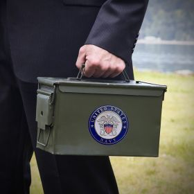 Custom 50 Cal Ammo Can Navy Retirement Gift