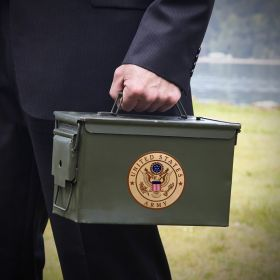 Custom 50 Cal Ammo Can Gift for Army Soldier