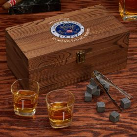 Personalized Whiskey Box Set of Air Force Gifts