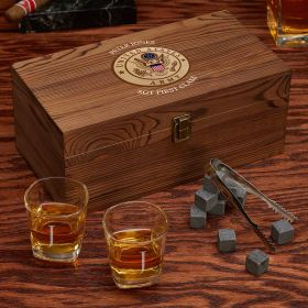 Engraved Whiskey Box Set Army Gifts