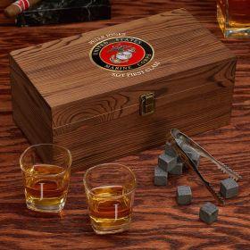 Engraved Whiskey US Marine Corps Gift Set