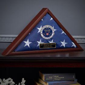 Custom Flag Case Air Force Retirement Gift