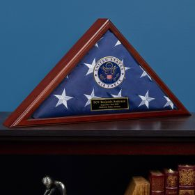 Custom Flag Case Air Force Retirement Gift