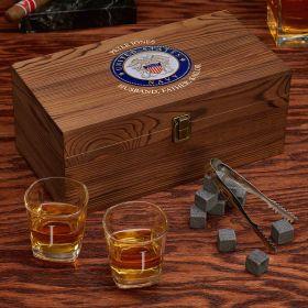 Custom Whiskey Set US Navy Gifts