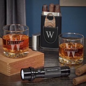 Oakmont Personalized Buckman Whiskey and Cigar Gift Ideas for Men