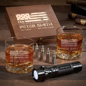 American Heroes Engraved Buckman Unique Military Gifts with Flashlight