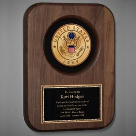 Army Personalized Plaque for Retirement