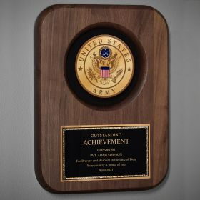 Army Custom Plaque for Retirement
